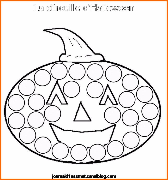 Gommettes La Citrouille D Halloween Le Quotidien D Une