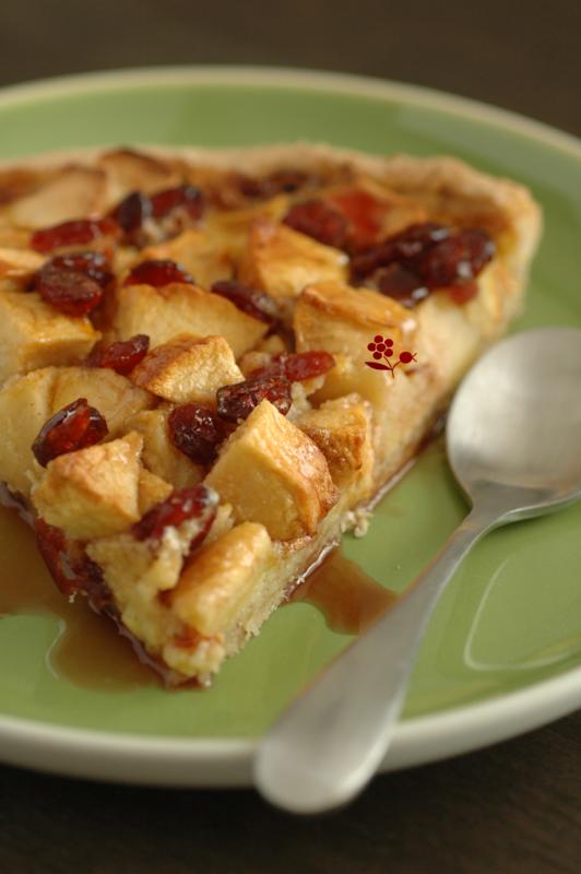 Tarte rustique aux pommes & canneberges séchées_7
