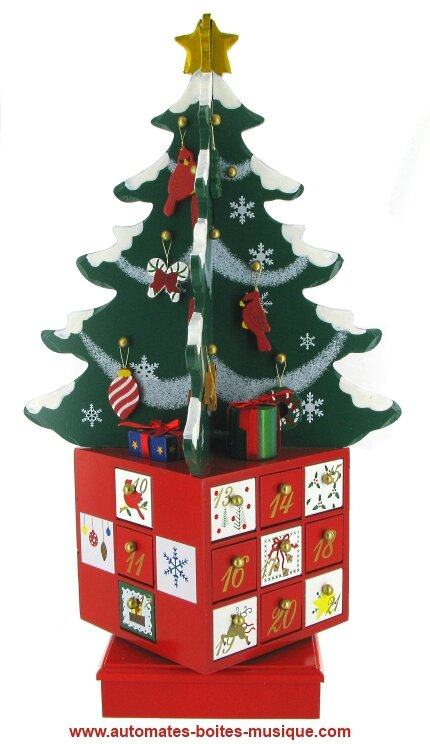 Calendrier musical Avent sapin