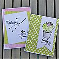 Quelques cartes clean : la suite sur little scrap