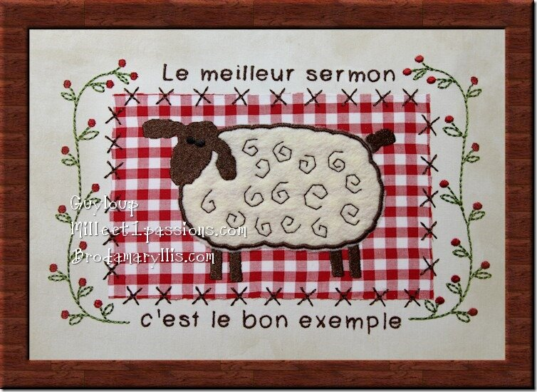 Le meilleur sermon c'est.... The best sermon is....