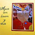 Agua de limon con chia