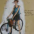 illustration je fais mon marché avec mon vélo, je ne suis pas pour autant bobo