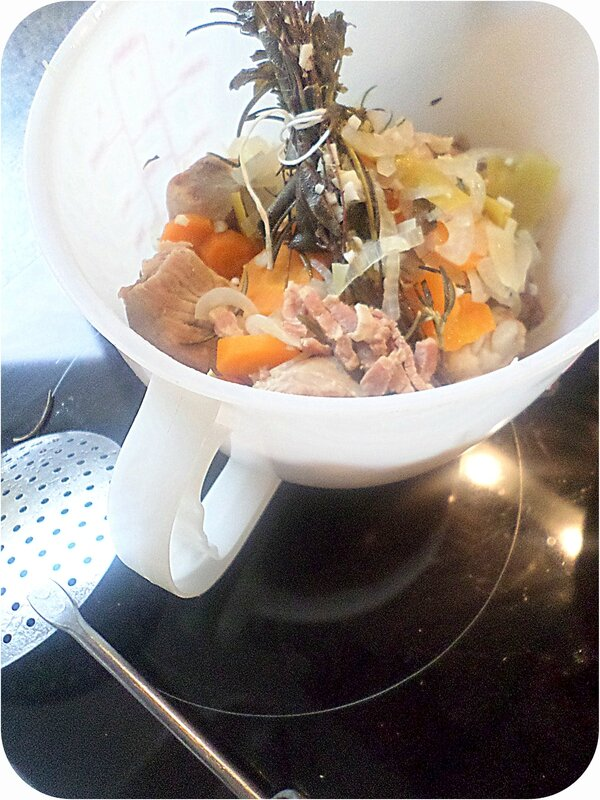 Retirer les légumes et viandes