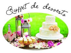 Buffet de desserts bouton