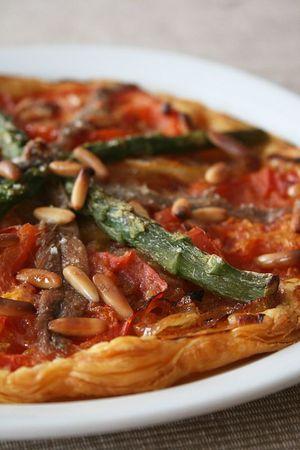 Tarte fine au asperges et anchois 2