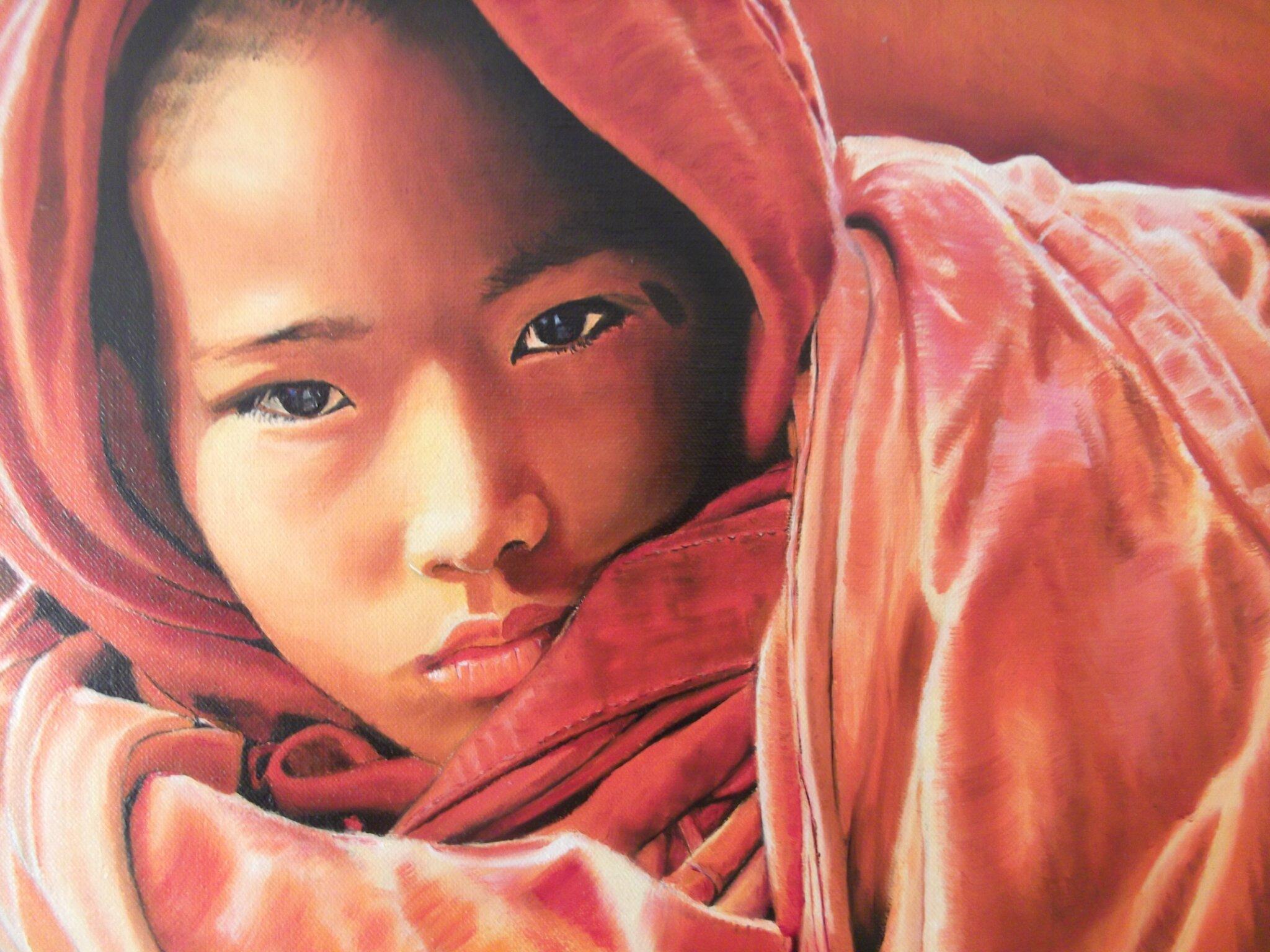 Peinture à l'huile d'après une photo de Franck Charton