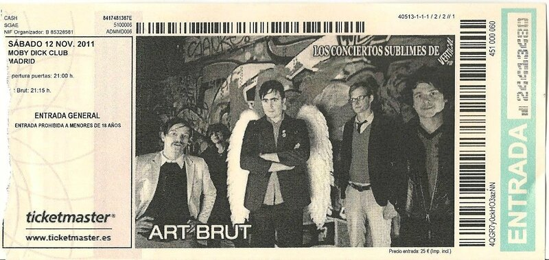 2011 11 Art Brut Moby Dick Club Billet