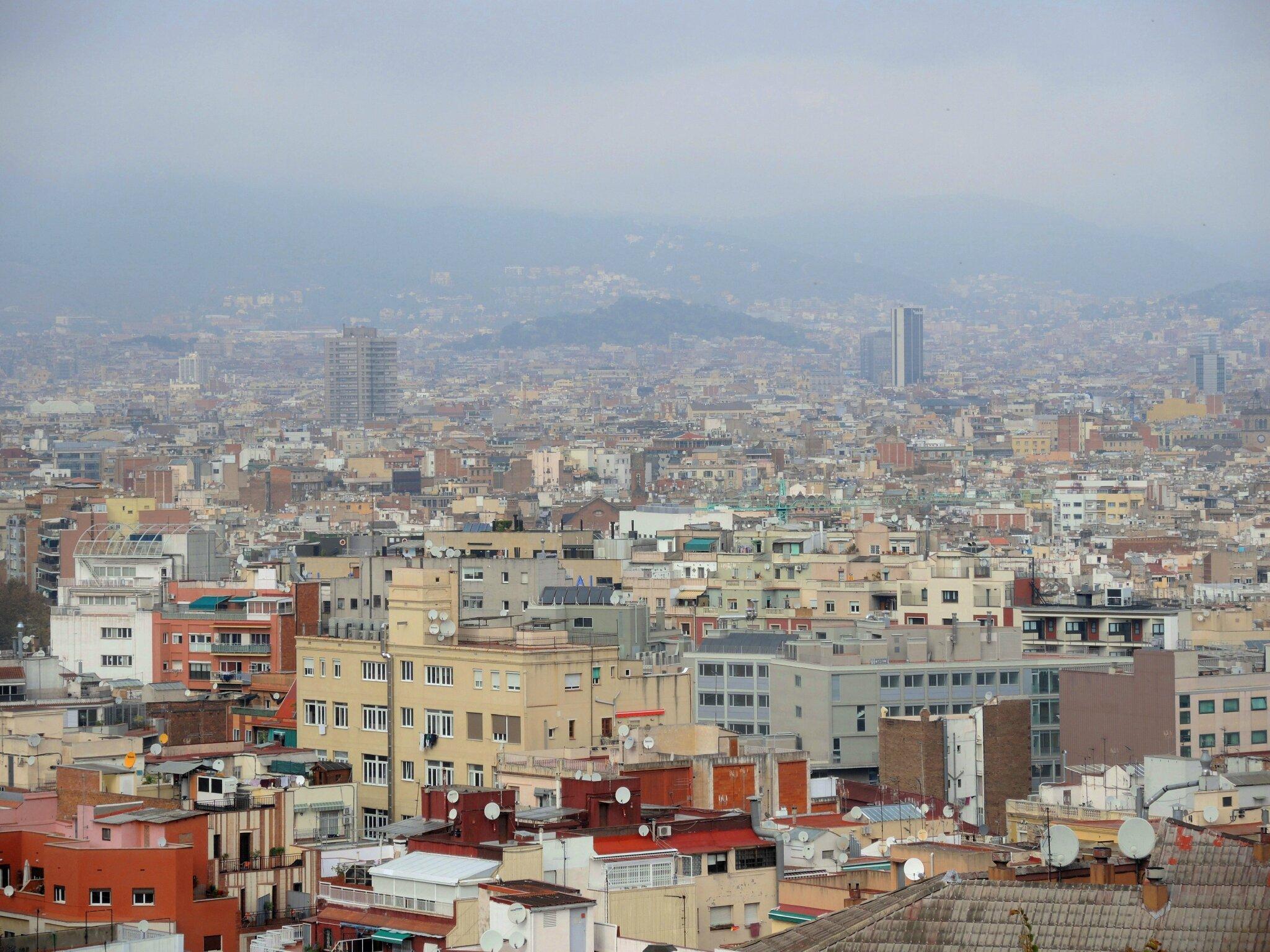 Barcelone, Montjuïc, panorama
