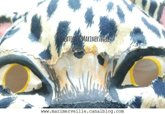 détail 3 masque panthère création marimerveille