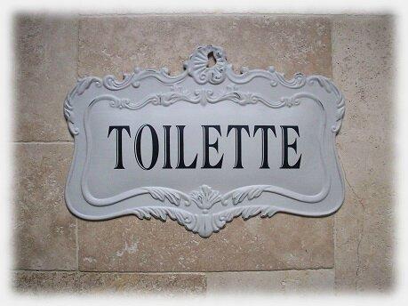 plaque toilette