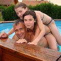 Jeux de piscine ! Pauvre Fred !