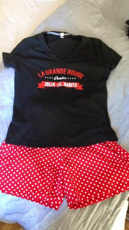 Anne-Sophie n'a utilisé que le bas du combishort GARANCE pour réaliser un adorable petit short (3)