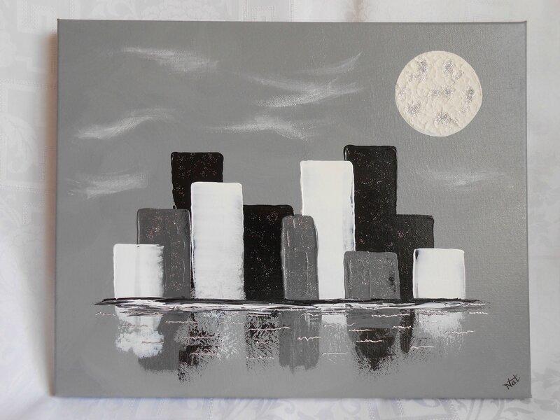 tableau toile home d co fleurs d 39 hiver gris blanc couleur passion. Black Bedroom Furniture Sets. Home Design Ideas