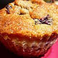 Muffins moelleux cerises et chocolat blanc