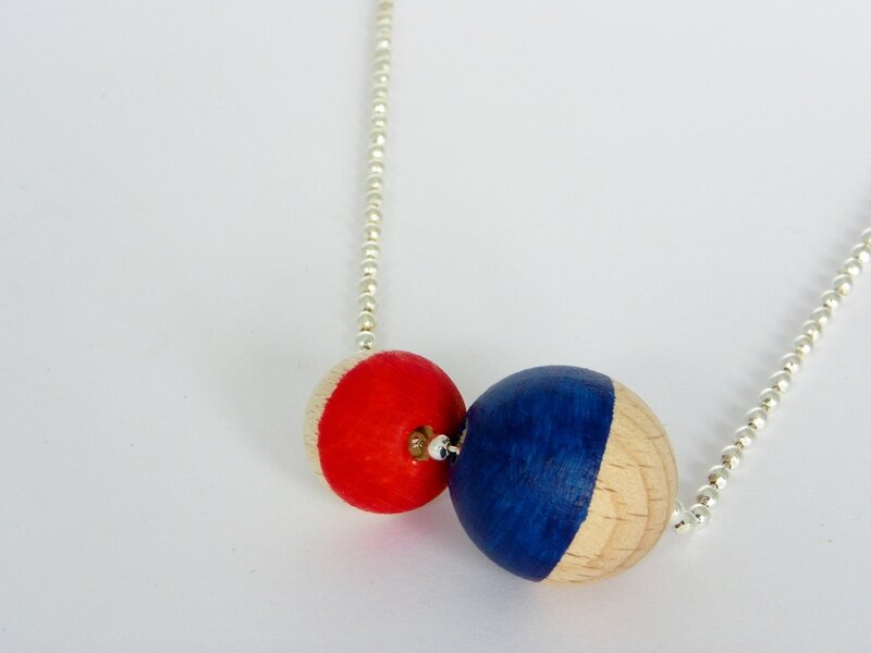 collier bleu rouge 4