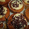 Cupcakes vanille aux pépites de chocolat