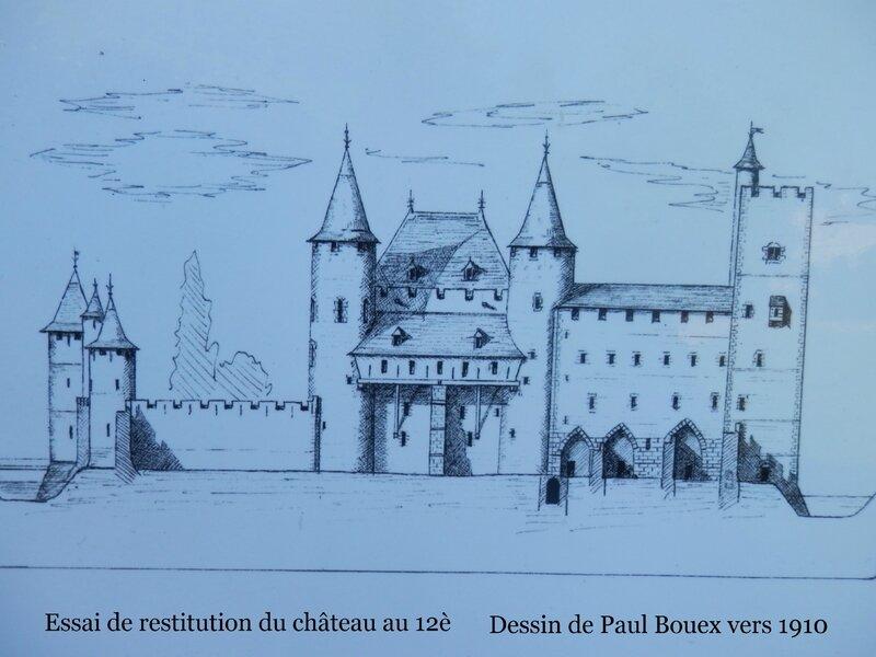 Château de Nemours au 12è dessin de 1910