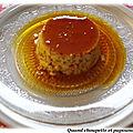 Creme renversee mascarpone et caramel