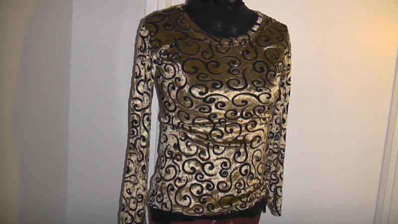 Haut doré et noir - Le vide dressing de Marie et Virginie c4541eac4a4f