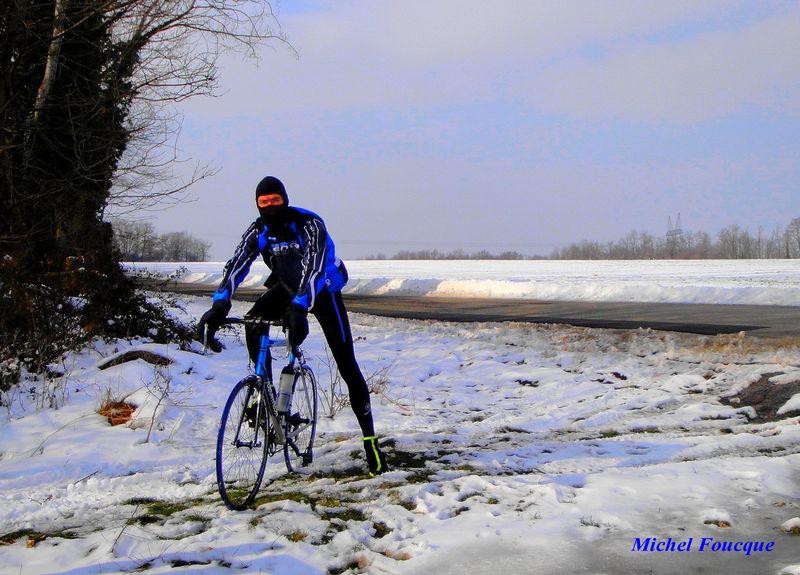 velo route hiver
