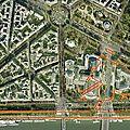 Exposition universelle de 1855 : Plan de l'expo (sur plan actuel)