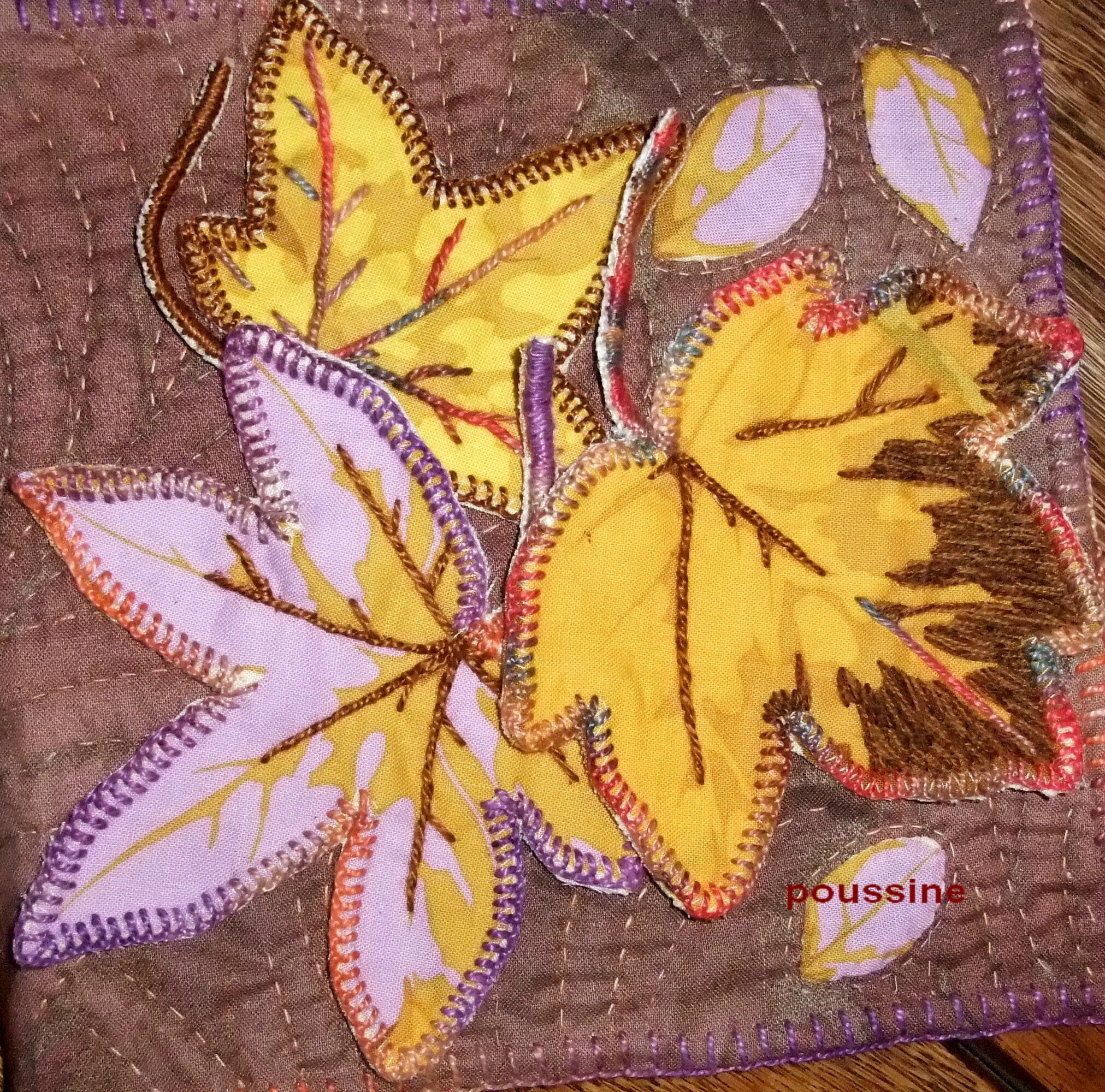 livre textile feuille automen2