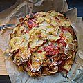 Pommes de terre au jambon cru