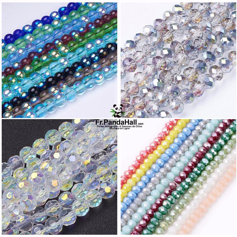 4-perles en verre electroplate