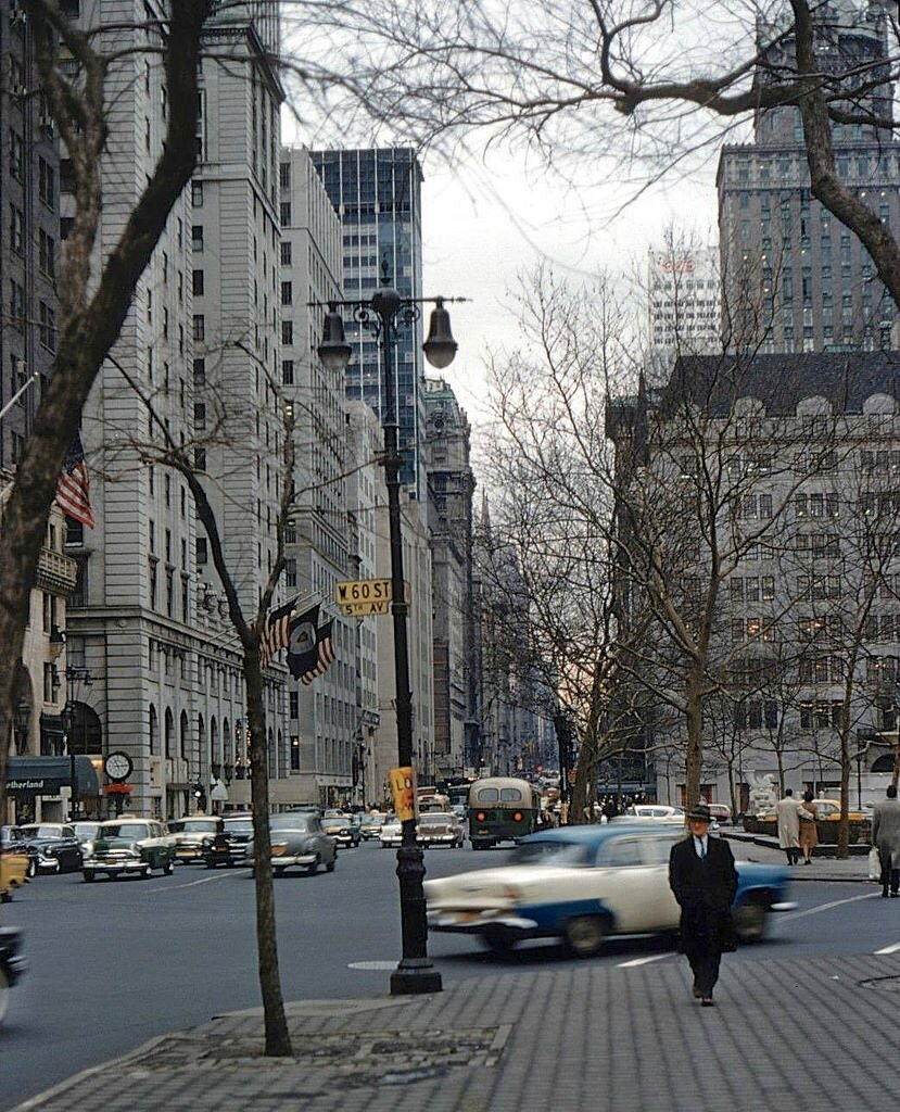 5th Avenue and 60th Street, NYC, 1958