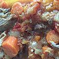 Osso bucco de dinde aux agrumes