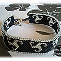 Bracelet en peyote style celtique