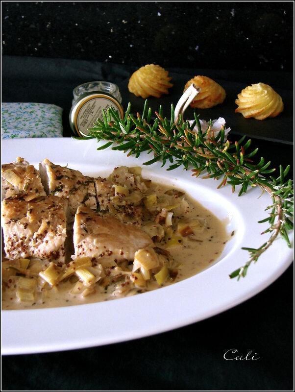 Filet Mignon de Dinde à la Moutarde & au Poireau 001