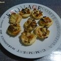 Mini tartelettes saumon-poireaux