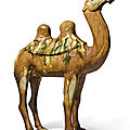 A sancai-glazed pottery figure of a camel, Tang dynasty (618-907)