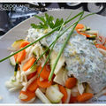 Salade croquante, sauce fromage blanc au citron et pecorino !