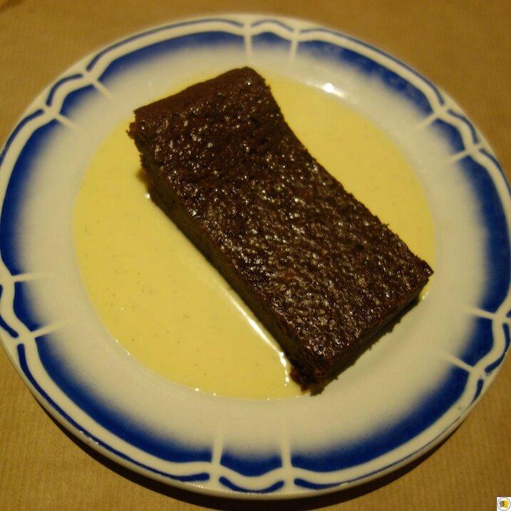 Moelleux au chocolat, crème anglaise
