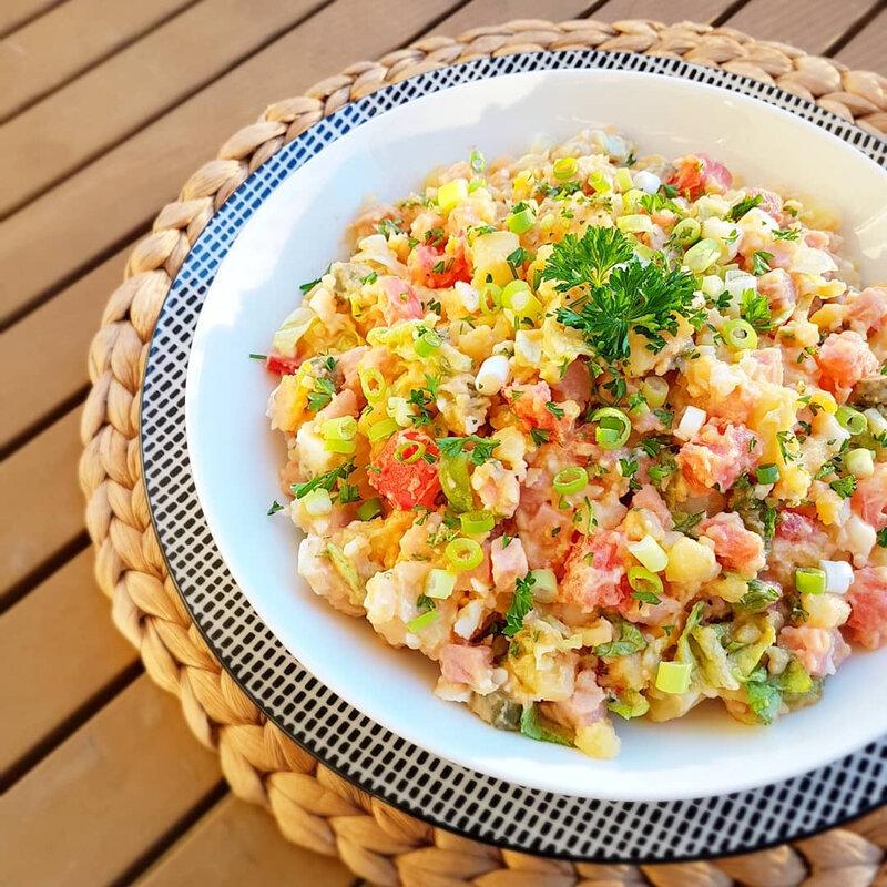 chez cathytutu cyril lignac tous en cuisine salade piemontaise