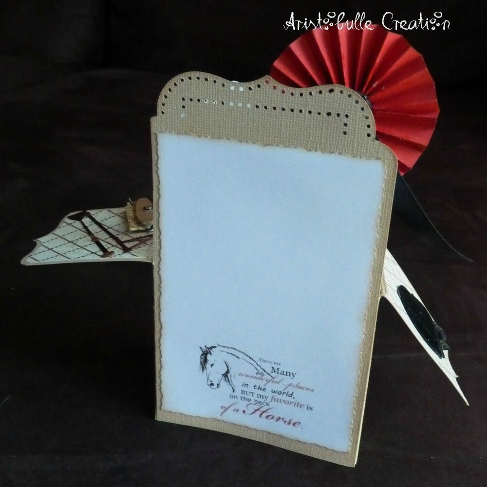 Card-in-a-box équitation - message