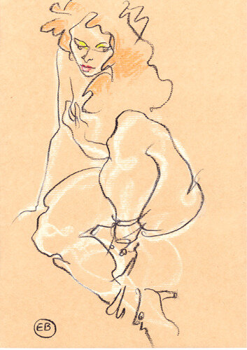 #croquisdenu modele vivant living model Etienne Bonnet Croquis nu dessin peinture Golden Blog Awards nude drawing sketch E MDS00800