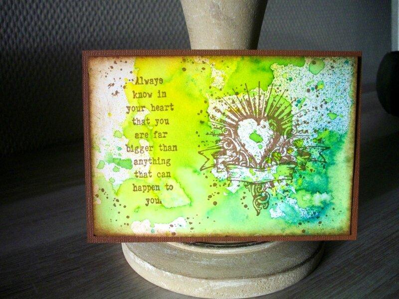 10 carte coeur verte