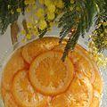 La rosace de la grande cocotte, à ma façon ... ou un oranger!