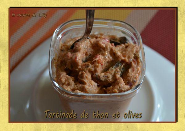 tartinade de thon et olives