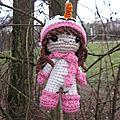 Test crochet - pippa snowgirl...