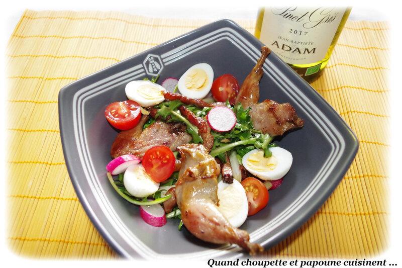 salade de pissenlits et sa cuisse de caille confite-2112