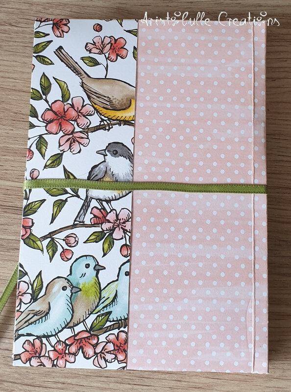 Etui à cartes oiseaux anniversaire Véro - verso