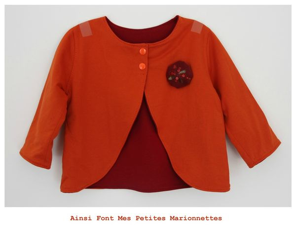 ens boudoir gilet rouge orange 5