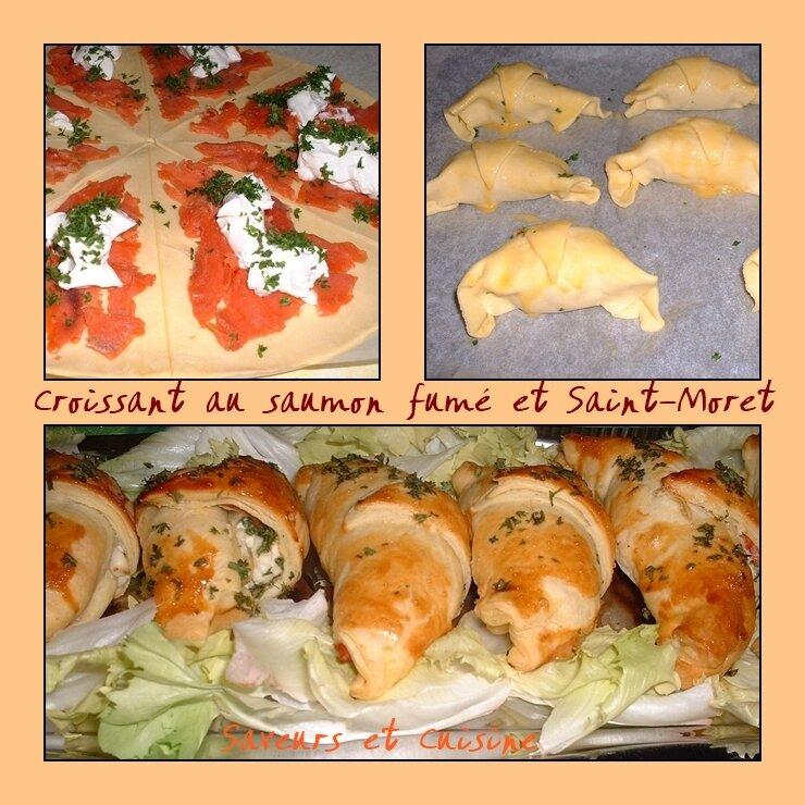 Croissant au saumon fumé et Saint-Moret pour un apéro chic !