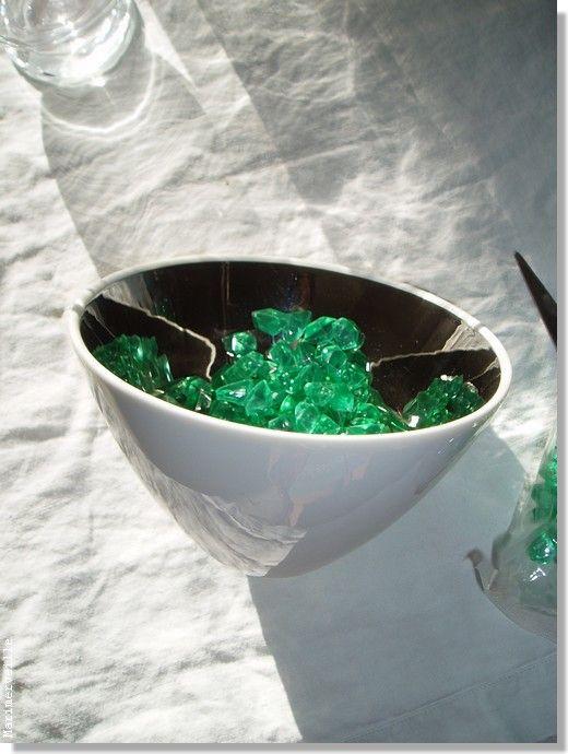 Coupelle aux paillettes émeraudes (Noël vert)