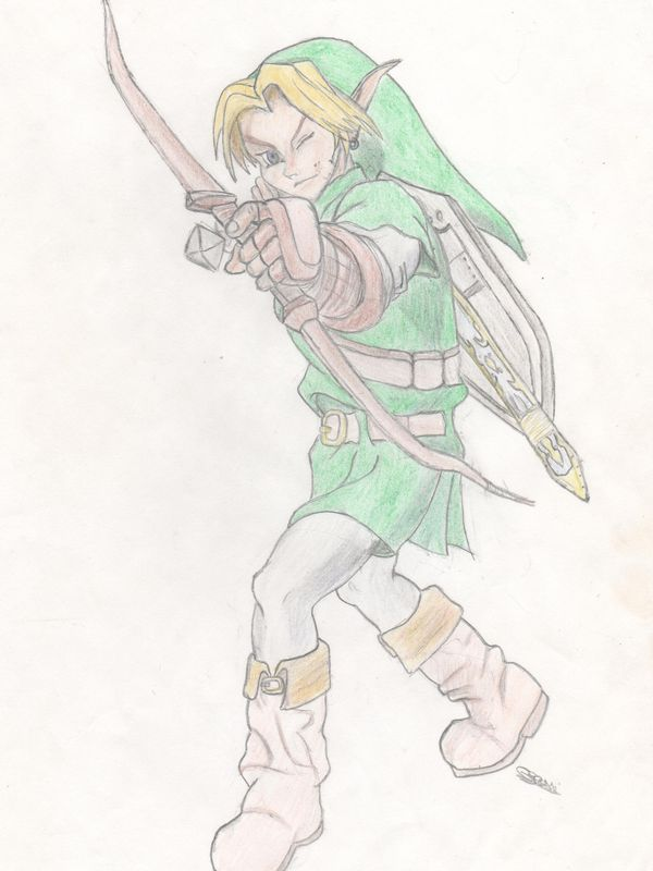 Link Hero Du Jeu Video Zelda Les Dessins De Luciole